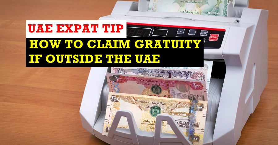 getting your gratuity if you are outside the uae