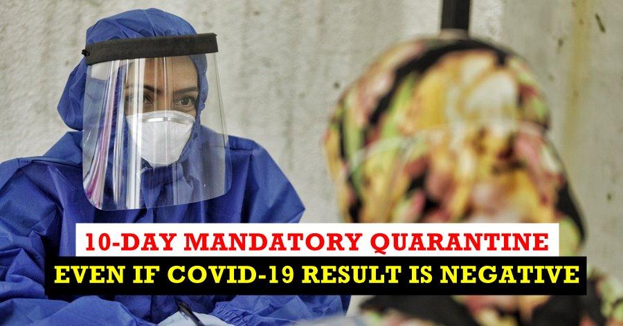 quarantine mandatory dubai